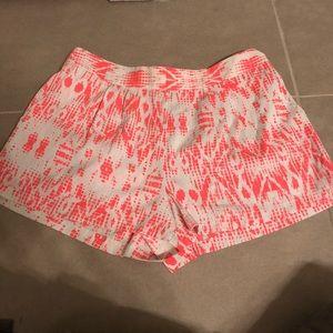 Coral tribal shorts